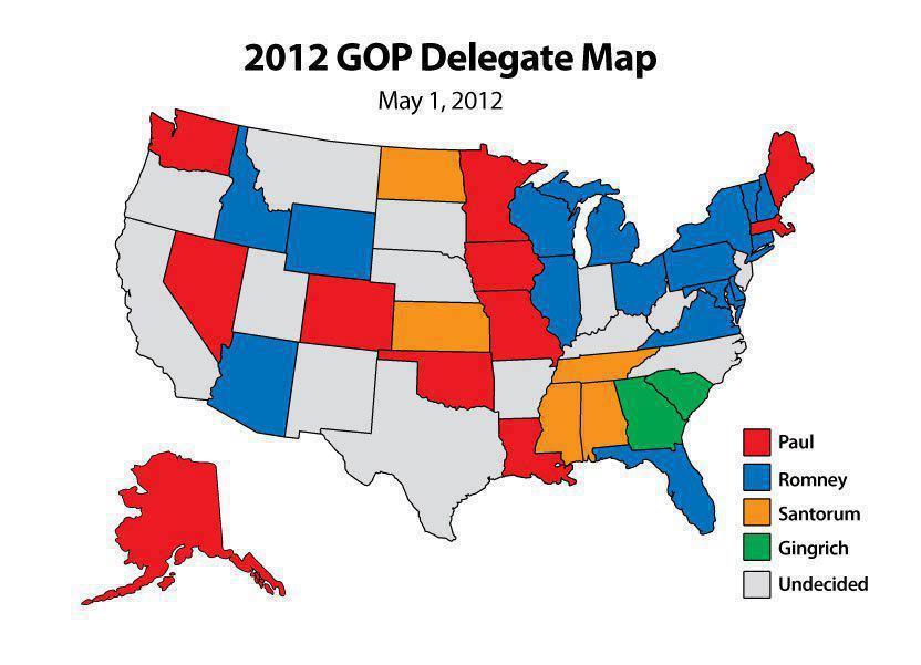 TrumpHillary Map Polls Look Like Business Insider Weve - Us delegate map